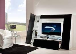White Furniture For Living Room Appliances Modern And Futuristic Entertainment Unit With Simple