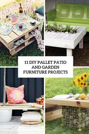 Pallets Patio Furniture - 11 diy pallet patio and garden furniture projects shelterness