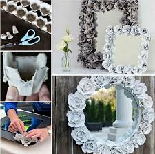 Recycle Home Decor Ideas Easy Diy Egg Carton Mirror Pictures Photos And Images For