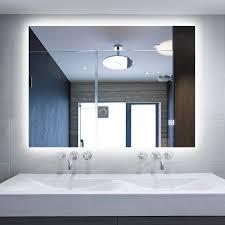 amazon com alice dimmable led backlit mirror illuminated bathroom