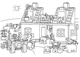 lego farm coloring page for kids printable free lego duplo