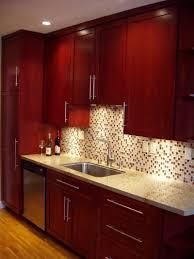 Kitchen Glass Backsplash Ideas Excellent Kitchen Glass Backsplash Cherry Cabinets