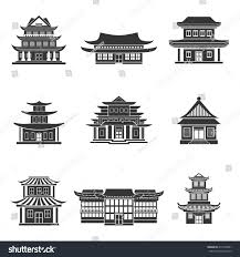 chinese house ancient temples traditional oriental stock vector