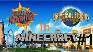 Orlando Universal Studios Map by Universal Studios Minecraft Server Part 1 Youtube