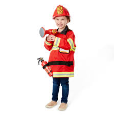 amazon com melissa u0026 doug fire chief role play costume dress up