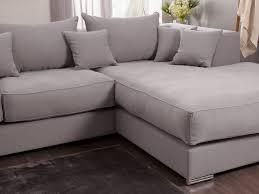 chemin de lit en lin canapé d u0027angle en coton et lin avec grande méridienne edward gris