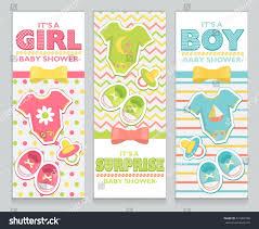 Card Invitation Baby Shower Card Invitation Set Boy Stock Vector 437983798