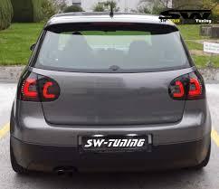 sw celis led taillights vw golf 5 03 09 red lightbar black smoke
