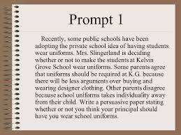 Persuasive Essay Prompt School Uniforms   Essay Essay Persuasive Writing Prompts School Uniforms General Essay