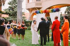Rainbow Wedding Centerpieces by Whimsical Rainbow Wedding Lisa Tien Green Wedding Shoes