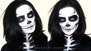 create a halloween skeleton makeup look using 6 makeup products