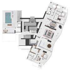 Penthouse Floor Plans Contemporary Condo Hawaii Penthouse Real Estate