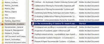 Possibility  Save PDFs for your PhD in different folders