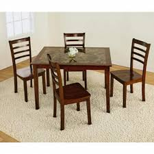 essential home jackson 5 pc faux marble dining set shop your