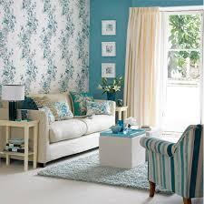 Retro Floral Wallpaper Design Ideas For Small Living Room With - Wallpaper living room ideas for decorating