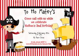 Birthday Invitation Cards Models Pirate Birthday Invitations Blueklip Com