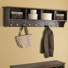 Storage Bench With Hooks by Simple Entryway Storage Bench Design With Iron Wire Basket Coat