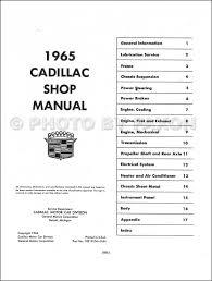 1965 cadillac repair shop manual original