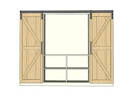 Diy Barn Doors by Ana White Sliding Door Cabinet For Tv Diy Projects