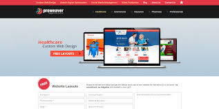 healthcare custom web design affordable free layout proweaver inc
