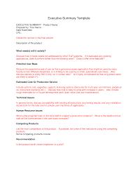 Executive Summary Resume Example Template Executive Summary Template Http Webdesign14 Com