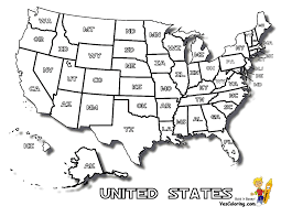 Untied States Map Coloring Pages And Click On The United States Of America Or An