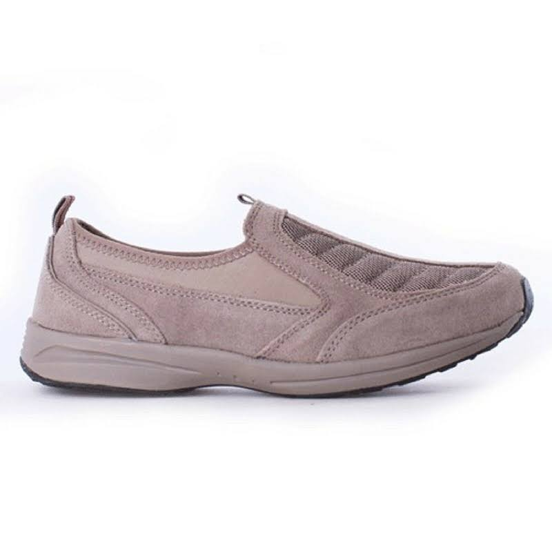 EASY SPIRIT PIERS DARK TAUPE SUEDE