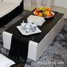 fashion living room coffee table tv cabinet combination of solid