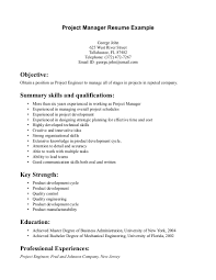 Engineering Project Manager Resume Sample resume entry level project manager resume