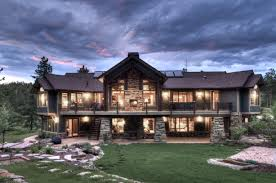 Log Cabin Style House Plans Mountain Craftsman Style House Plans Breathtaking Exterior View