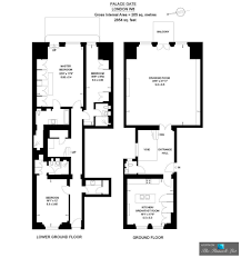 Palace Floor Plans by Apartment 1 U2013 6 Palace Gate London W8 England Uk The