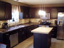 L Shaped Small Kitchen Designs Kitchen Astonishing Mahogany Kitchen Cabinet Remodel Ideas With
