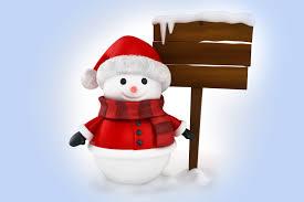 snowman 3d winter snow cute christmas new year santa snowman