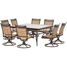 Swivel Dining Room Chairs Fontana 9 Piece Dining Set With Six Stationary Dining Chairs Two