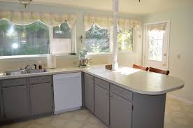 Oak Kitchen Cabinets Refinishing Spray Painting Kitchen Cabinets Before And After Pictures U2014 Decor