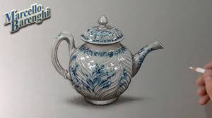 Porcelain by How To Draw A Porcelain Teapot Youtube