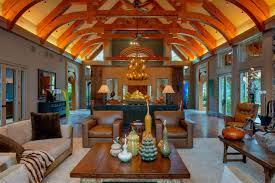 Exposed Beam Ceiling Living Room by Architecture Luxurious Mountain Living Room With Raised Ceiling
