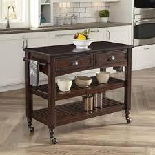 Wooden Kitchen Island Table Dark Wood Kitchen Islands U0026 Carts You U0027ll Love Wayfair