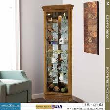 Oak Curio Cabinet Miller Corner Oak Curio Cabinet Glass Mirror Back 680485 Dominc