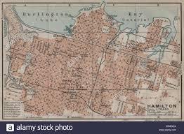 Hamilton Canada Map Hamilton Town City Plan Ontario Canada Baedeker 1922 Vintage