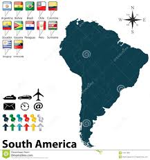 Political Map Of South America Political Map Of South America Royalty Free Stock Images Image