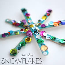 toddler approved sparkly snowflake craft for kids