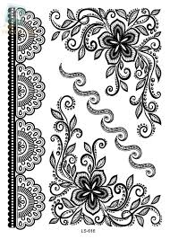 Indian Flower Design Aliexpress Com Buy Ls616 Rocooart Eco Friendly Henna Makeup