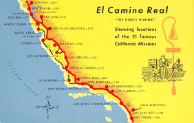 California Maps A Trail Map Of Some Of The Amazing Spanish Missions Across