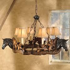 Cowboy Style Home Decor Horse Head Chandelier