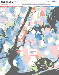 Zip Code Map Brooklyn by New York City Singles Organized And Mapped Out By Age Gender And