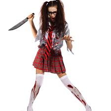 schoolgirl halloween costume 6 horror scary zombie costume walking dead ghost halloween hen