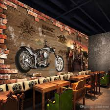 discount wallpaper motorcycle 2017 wallpaper motorcycle on sale custom photo wallpaper vintage motorcycle nostalgic brick wall background decoration wall for living room bar ktv wall murals discount wallpaper motorcycle