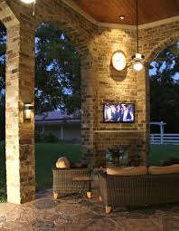 Outdoor Patio With Roof by Patio Cover With Second Story Roof Tie In Texas Custom Patios