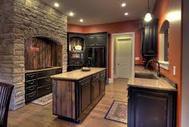Kitchen No Backsplash Kitchen Granite Countertops Dark Cabinets Antique Brass Drawer